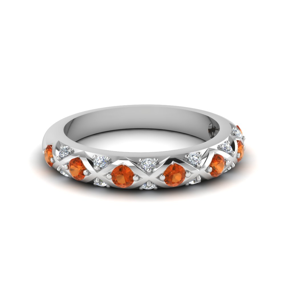 Interwoven Pave Diamond Band