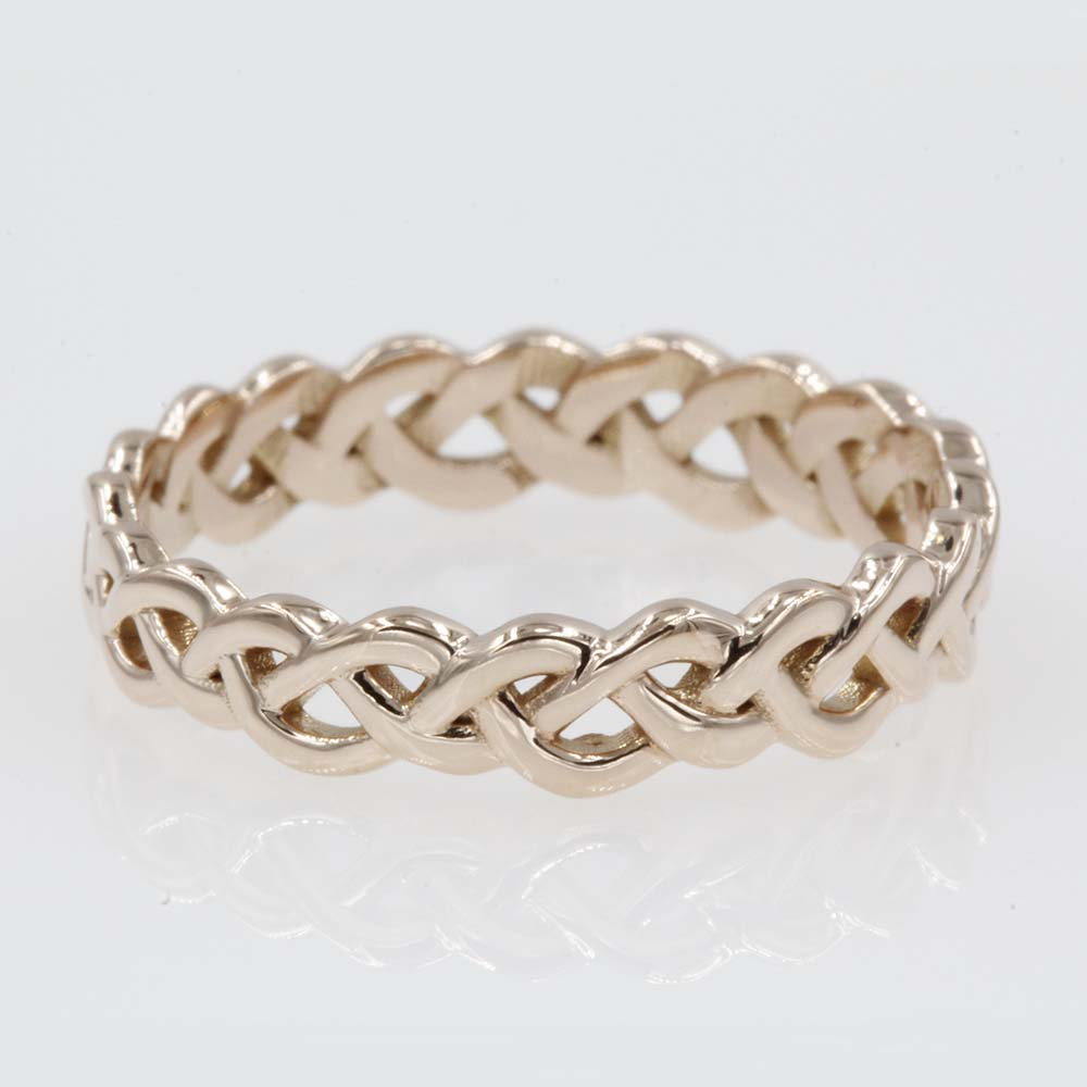 interwoven rose gold wedding band FD8681B