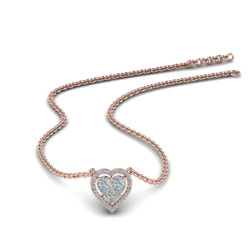 Heart Halo Pendant For Women