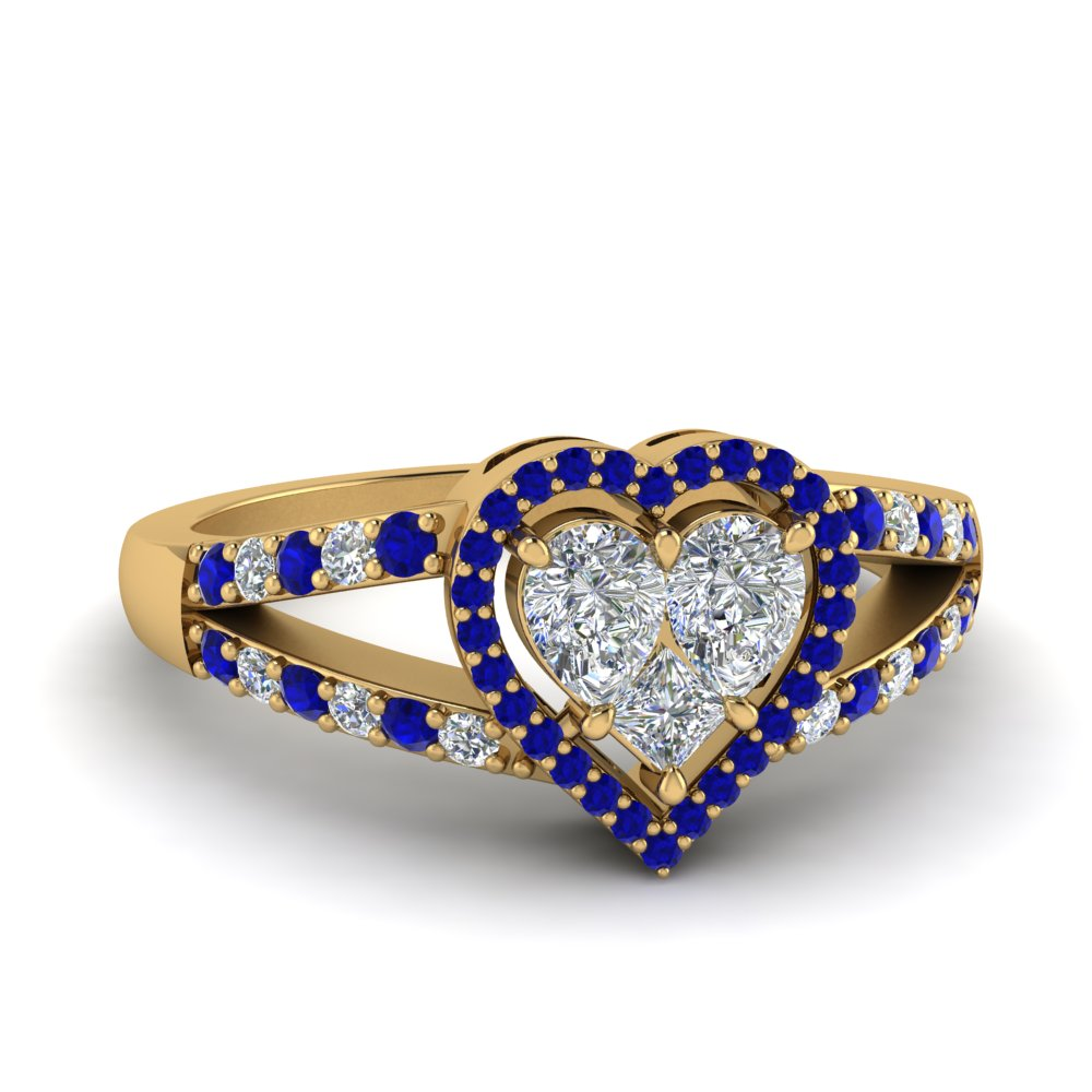 Heart Halo Wedding Ring