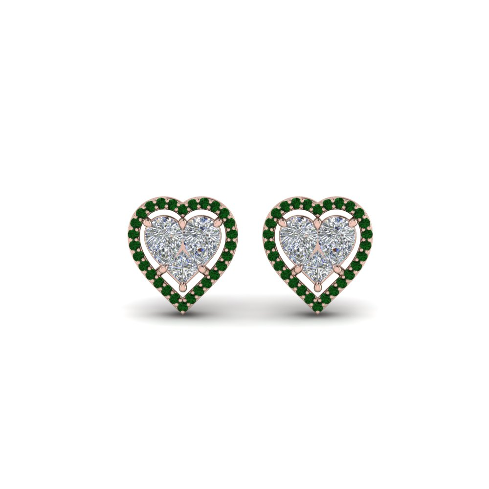 invisible-set-heart-halo-stud-diamond-earring-with-emerald-in-FDEAR9264GEMGRANGLE1-NL-RG