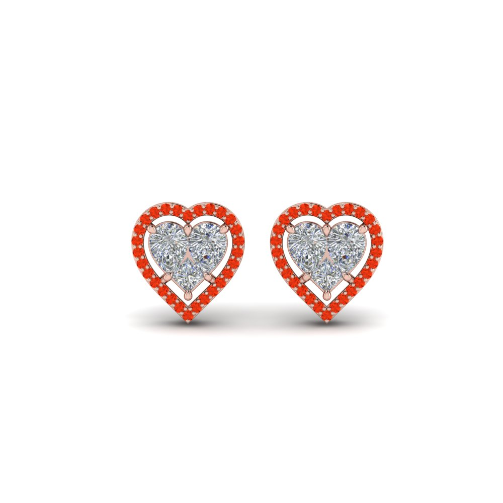 Heart Halo Stud Earring