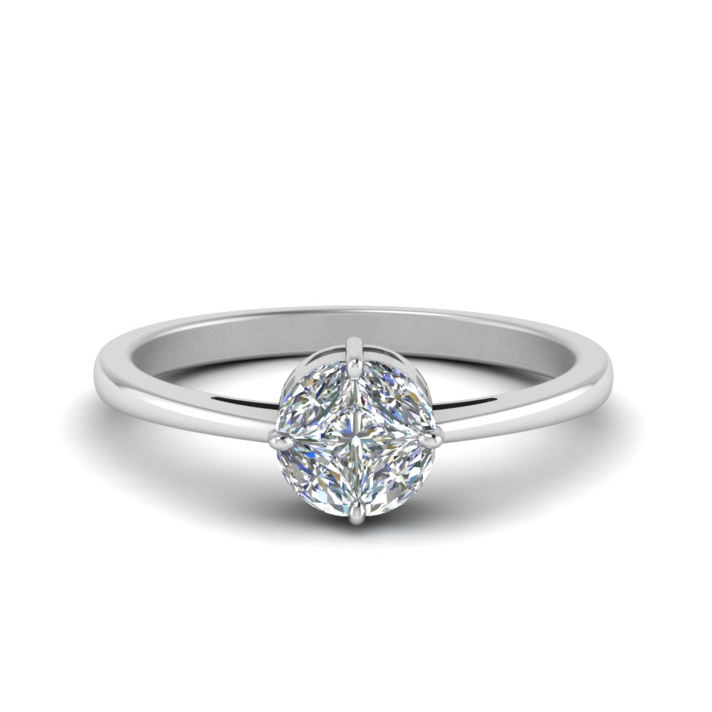 Invisible Set Round Diamond Ring