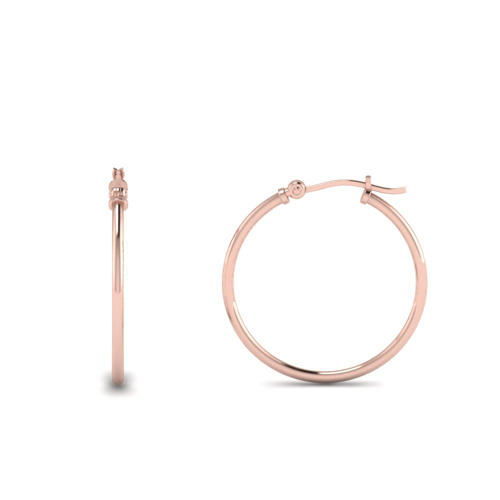 kids hoop earring in rose gold FDEAR8996 K NL RG