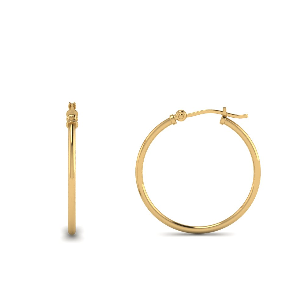 kids hoop earring in yellow gold FDEAR8996 K NL YG