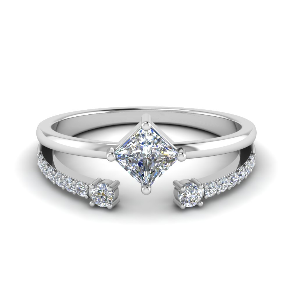 Diamond Ring With Open Band