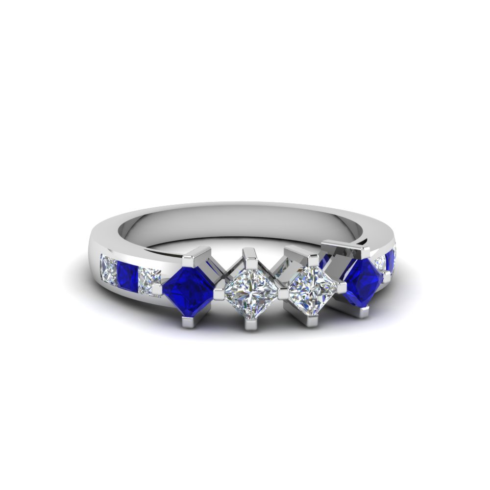 Kite Set Princess Cut Diamond Band