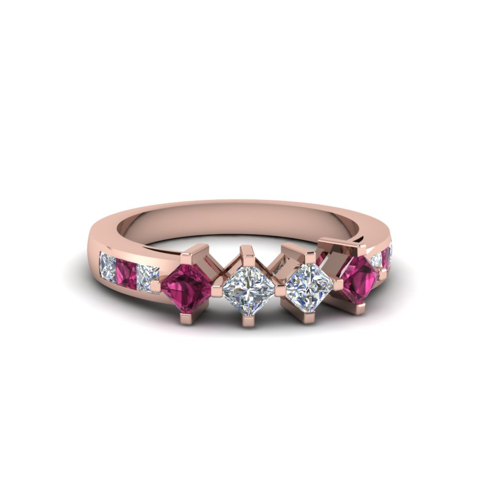 Get Custom Pink Sapphire Wedding Rings And Bands At Unbelievable Price