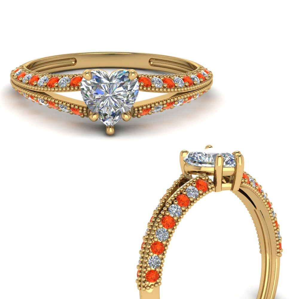 knife-edge-heart-shaped-diamond-split-shank-engagement-ring-with-orange-topaz-in-FD9173HTRGPOTOANGLE3-NL-YG
