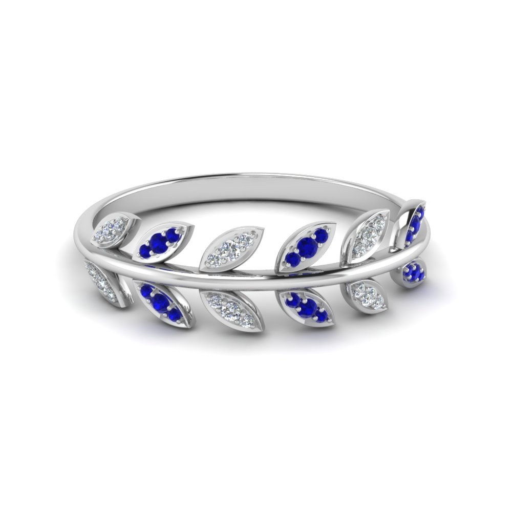 Natural Inspired Sapphire Wedding Band