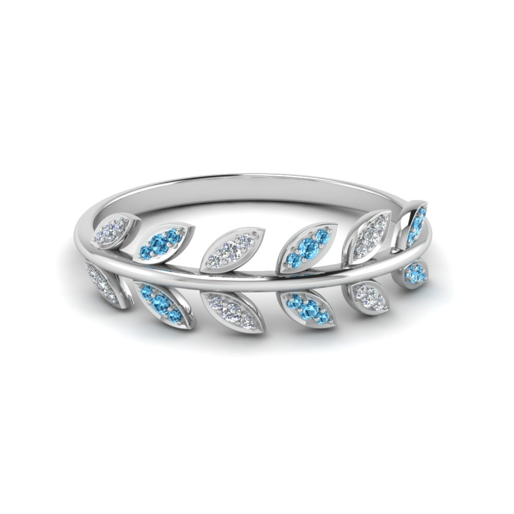 70dc7fec5 Purchase Our Womens Wedding Bands with Blue Topaz| Fascinating Diamonds