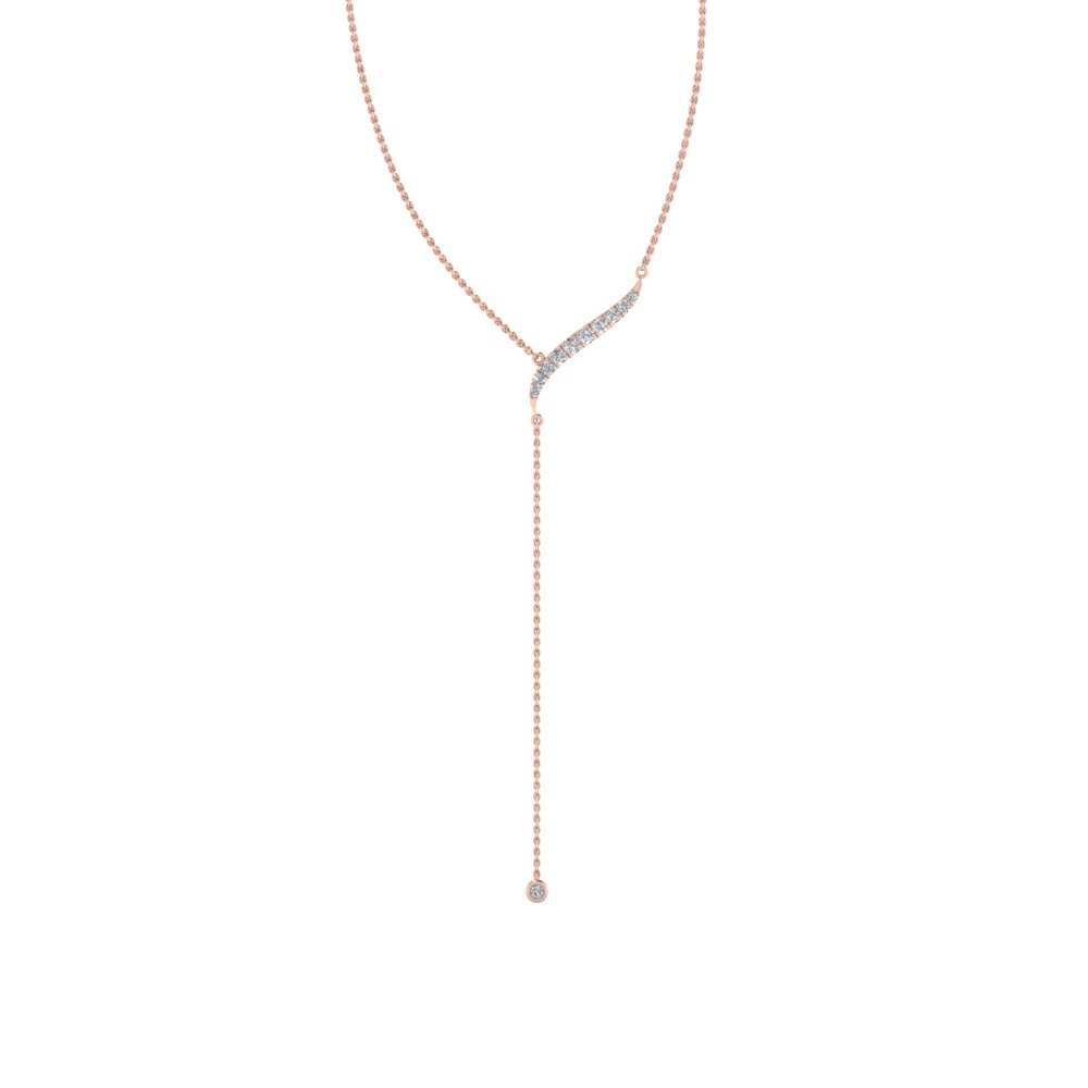 18K Rose Gold Diamond Necklaces
