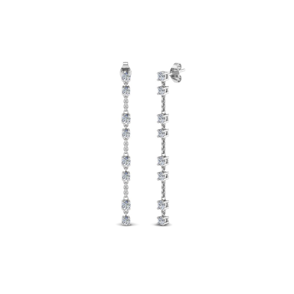 Long Hanging Diamond Drop Earring In Fdear652340 Nl Wg