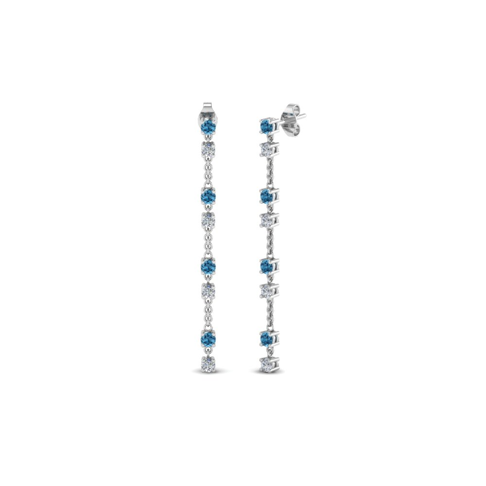 Topaz Long Chain Drop Earring