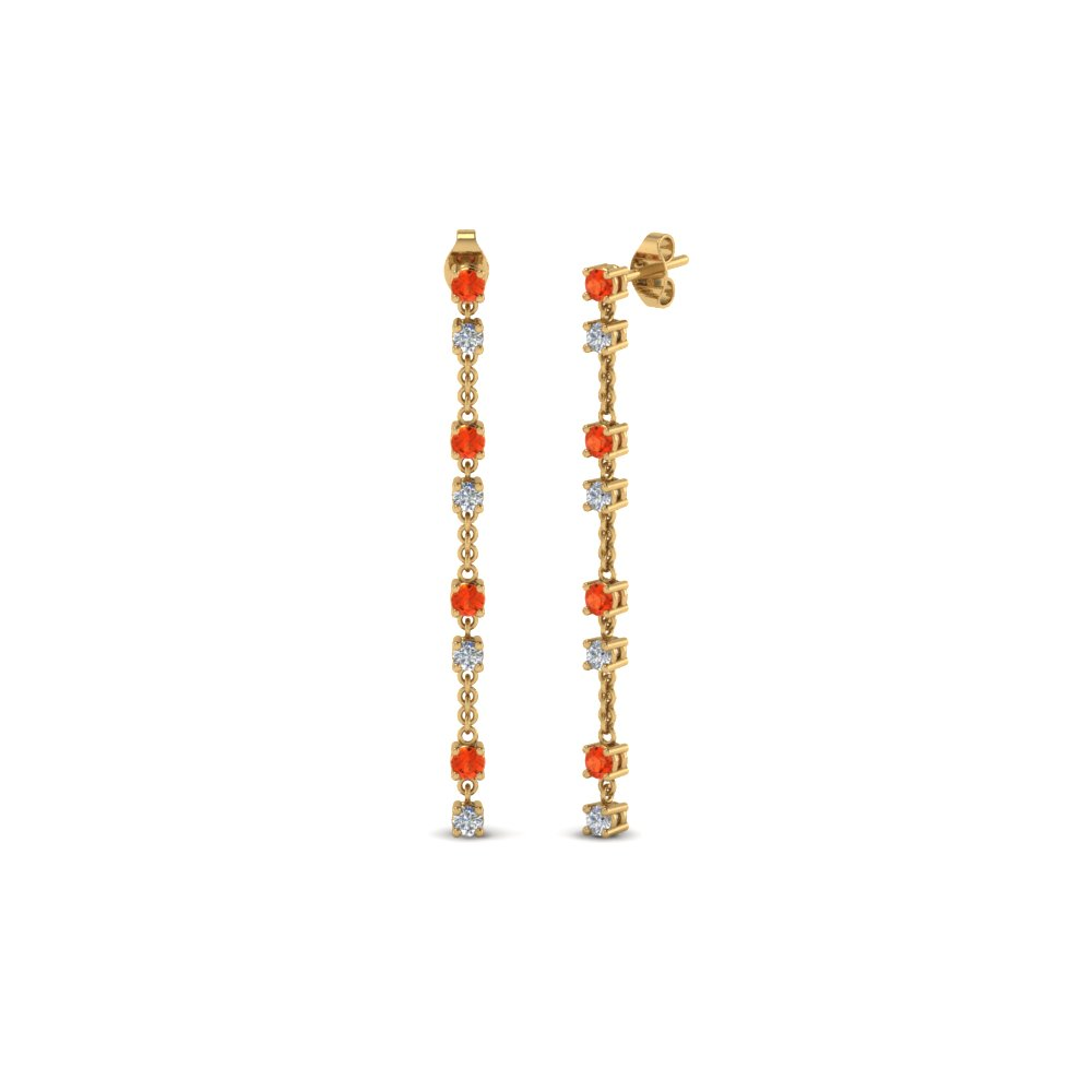Colorful Orange Topaz Earrings