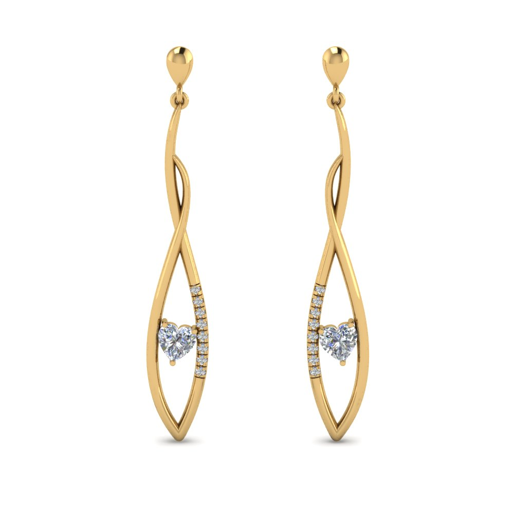 Long Twist Stud Drop Earring