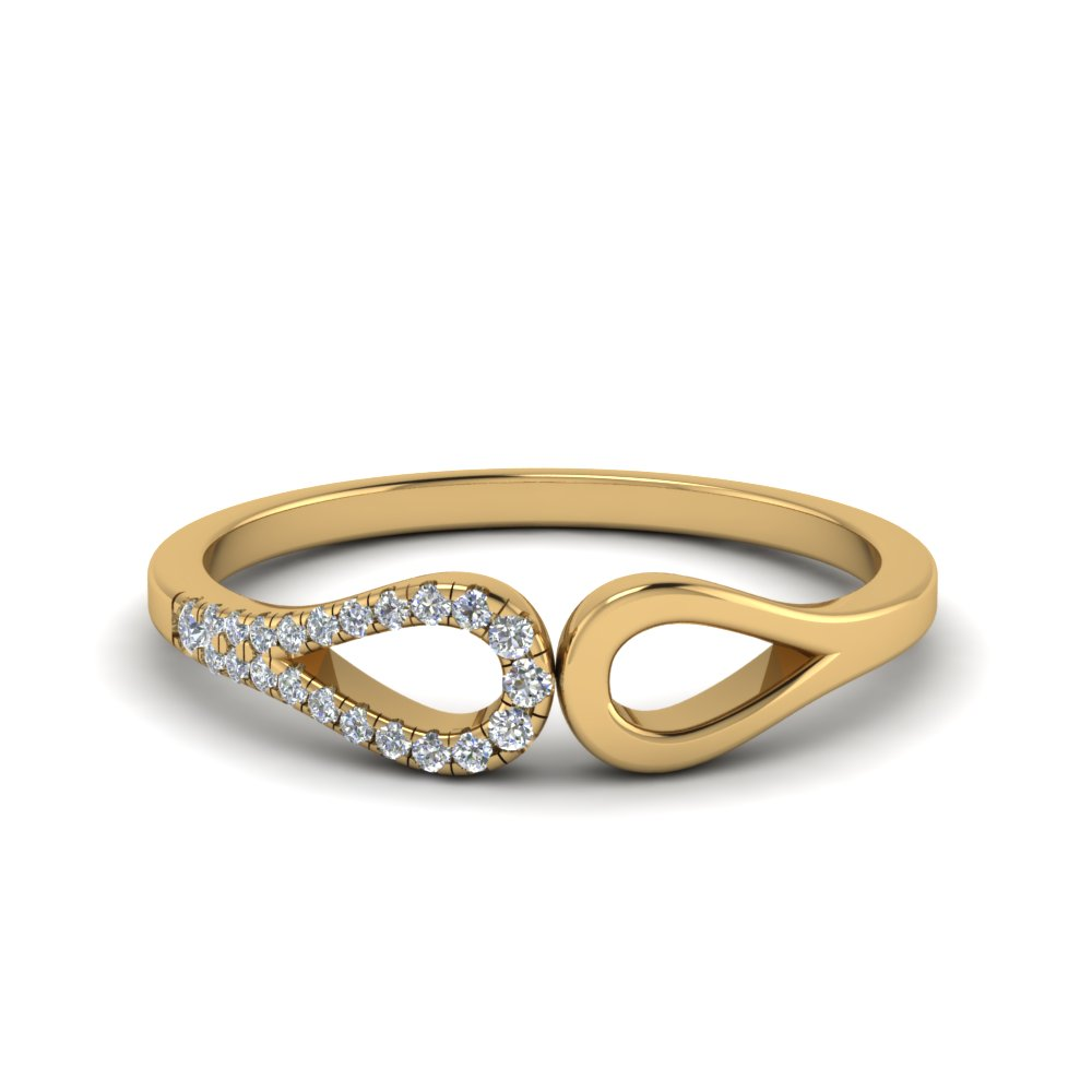 loop diamond delicate wedding band in 14K yellow gold FD68810B NL YG