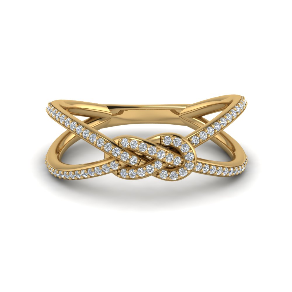 love knot diamond promise ring in FD123097ROR NL YG