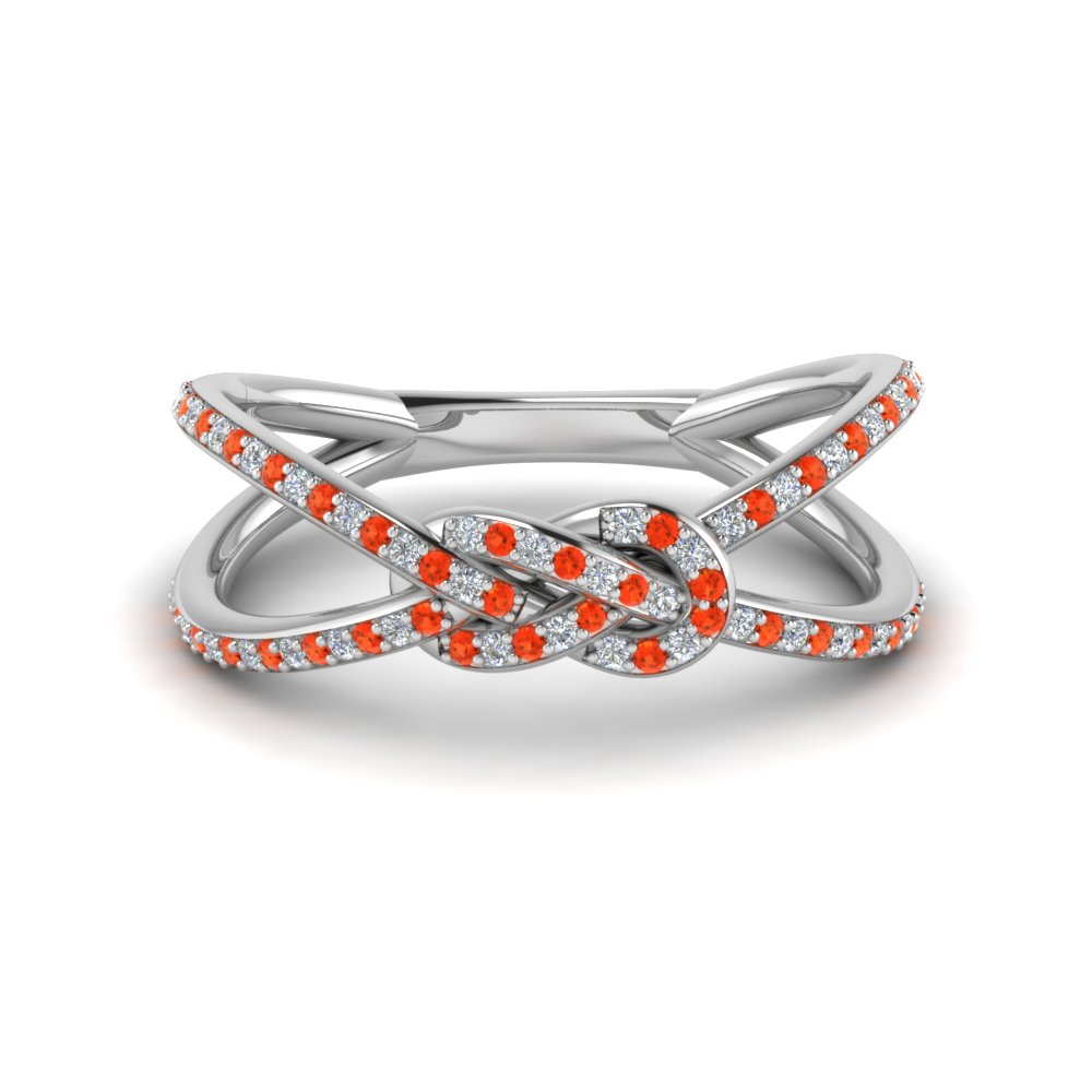 Love Knot Orange Topaz Ring