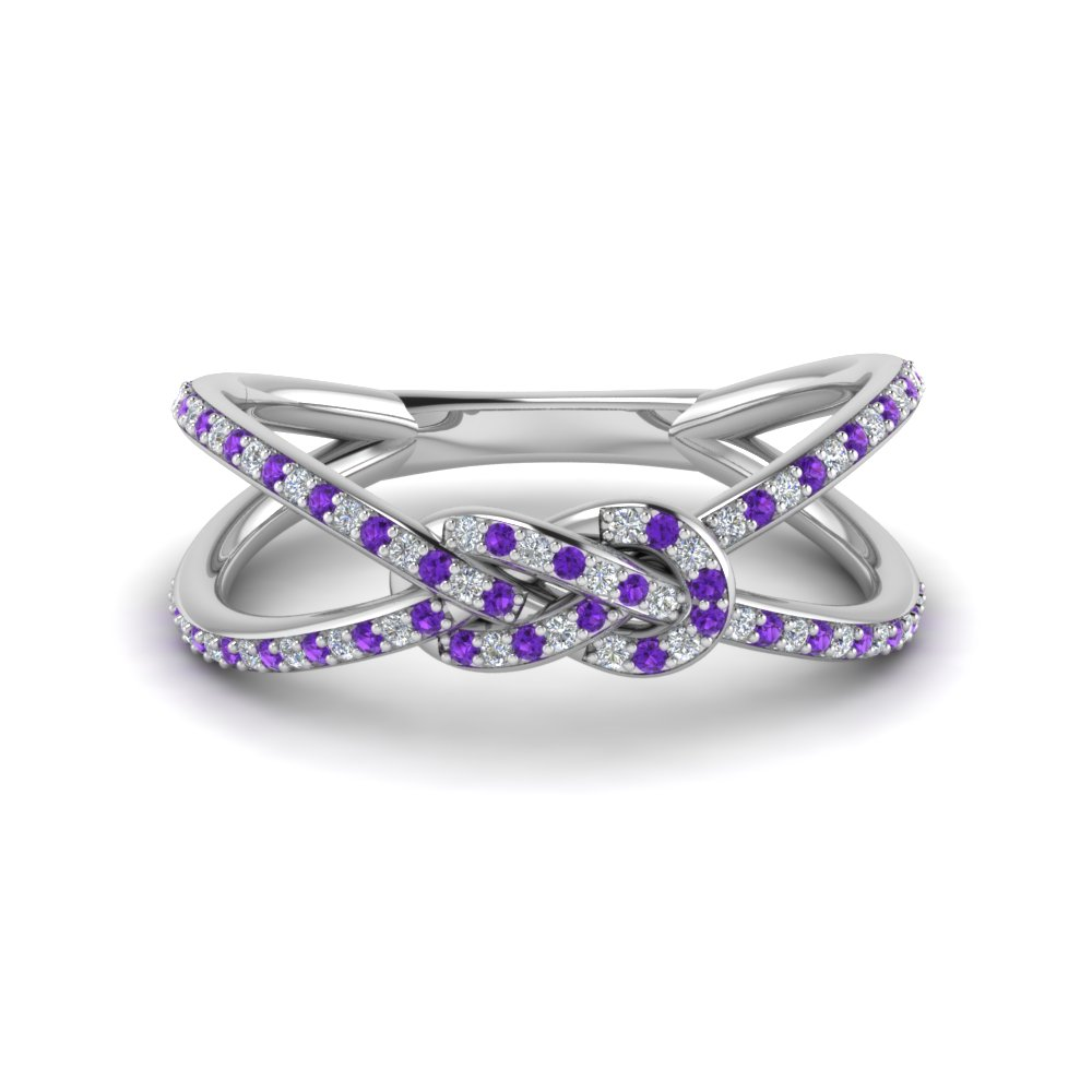 Love Knot Purple Topaz Promise Ring