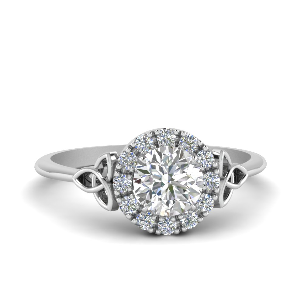 love knot halo lab diamond rings in FD124180ROR NL WG