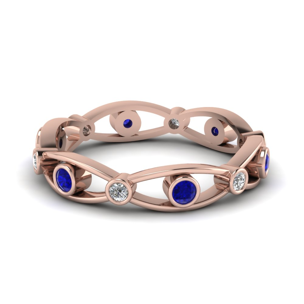Save Big On Blue Sapphire Eternity Bands |Fascinating Diamonds