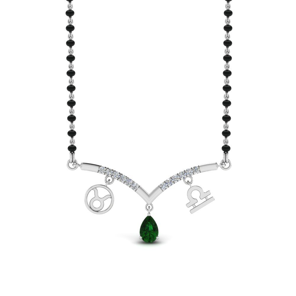 Emerald Mangalsutra Necklace