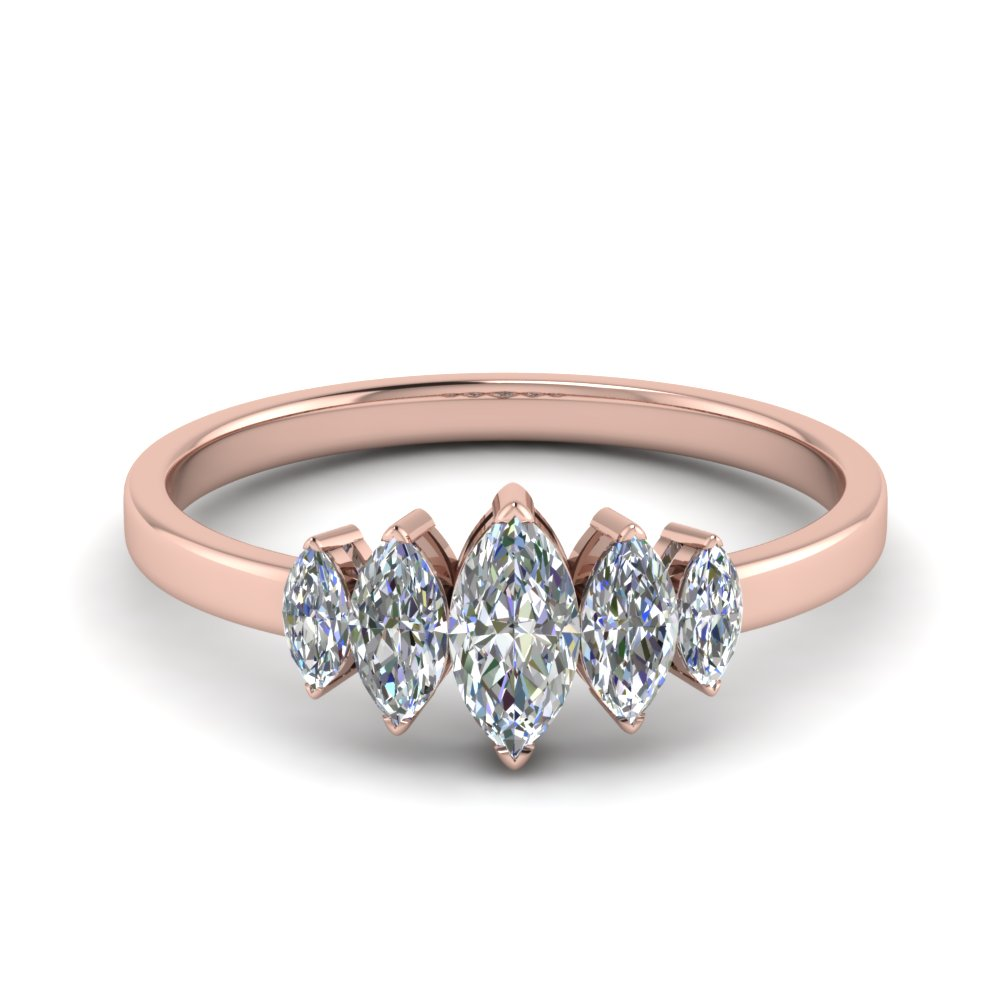 18K Rose Gold Womens Wedding Band