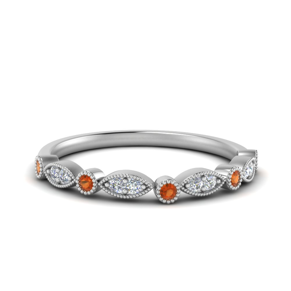 marquise-and-dot-anniversary-diamond-band-with-orange-sapphire-in-FD8641BGSAOR-NL-WG