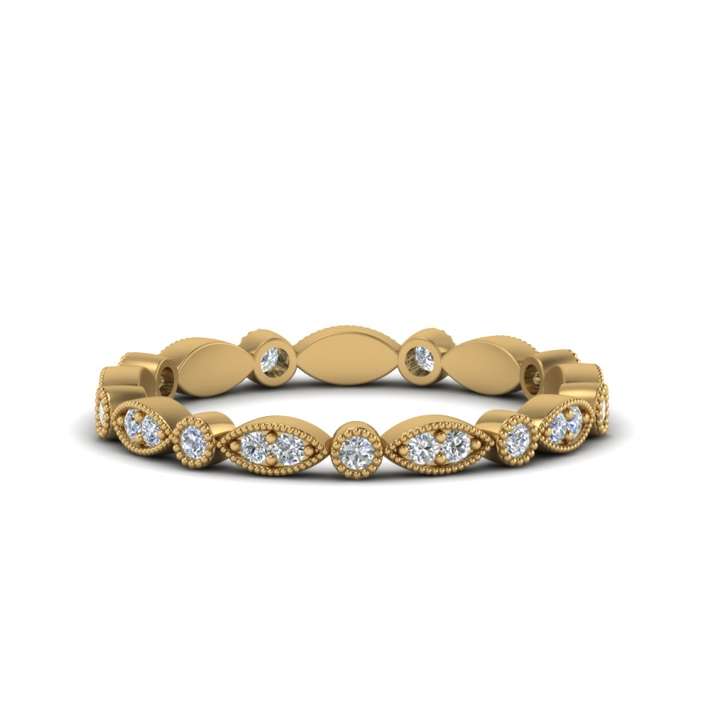 marquise-and-dot-stacked-wedding-band-ring-in-FD8641B-NL-YG