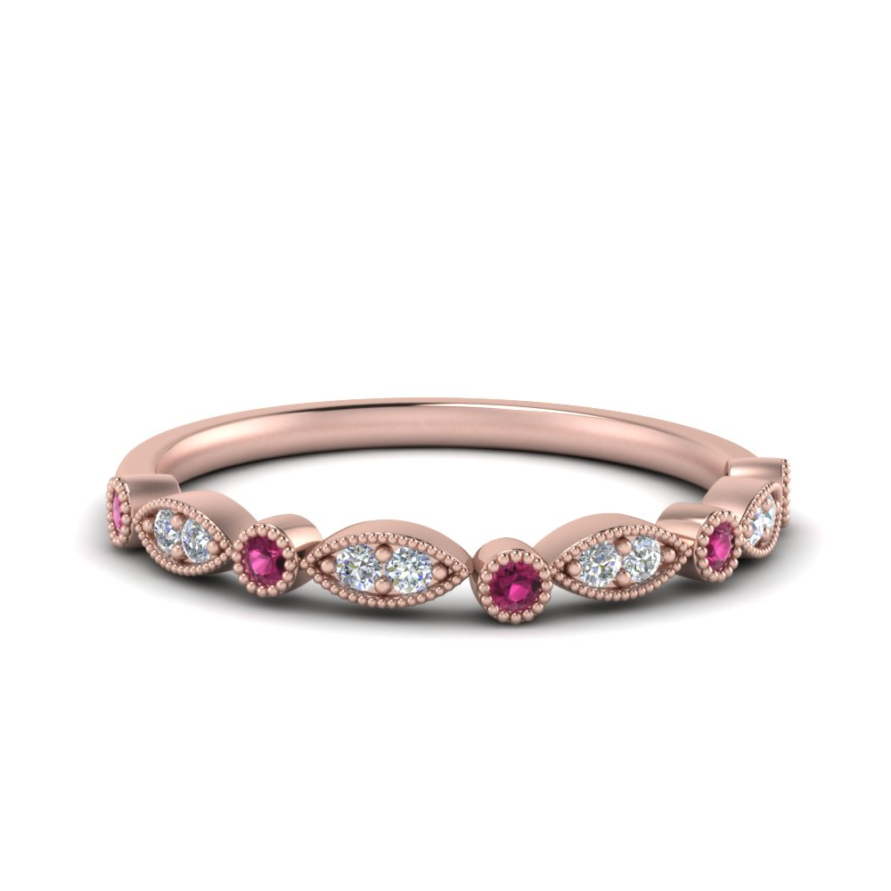 marquise-and-dot-vintage-diamond-band-with-pink-sapphire-in-FD8641BGSADRPI-NL-RG