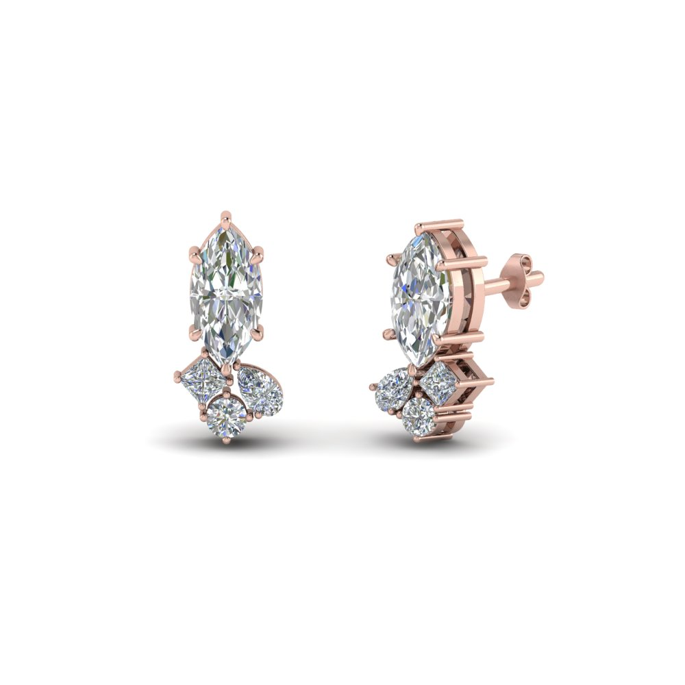 marquise-and-pear-cluster-diamond-earrings-in-FDEAR9283-NL-RG