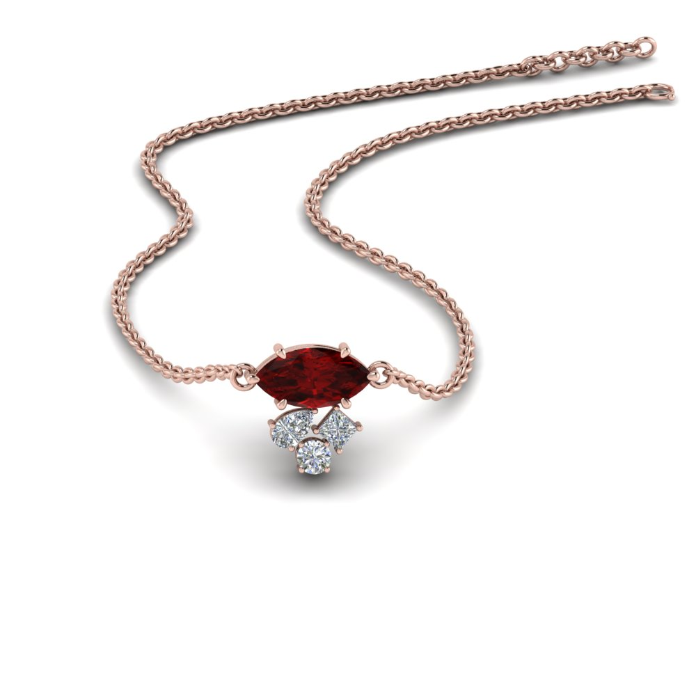 marquise-cluster-diamond-pendant-with-ruby-in-FDPD9282GRUDR-NL-RG
