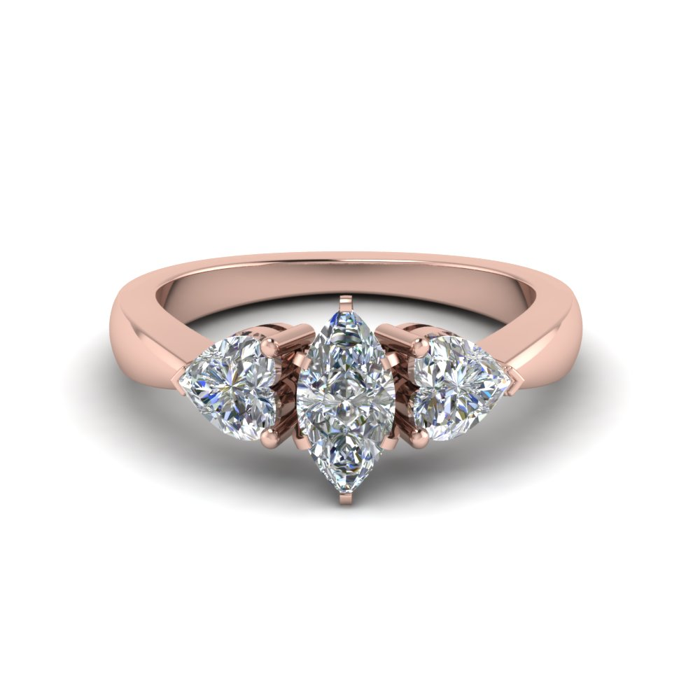 Rose Gold Marquise Cut Ring