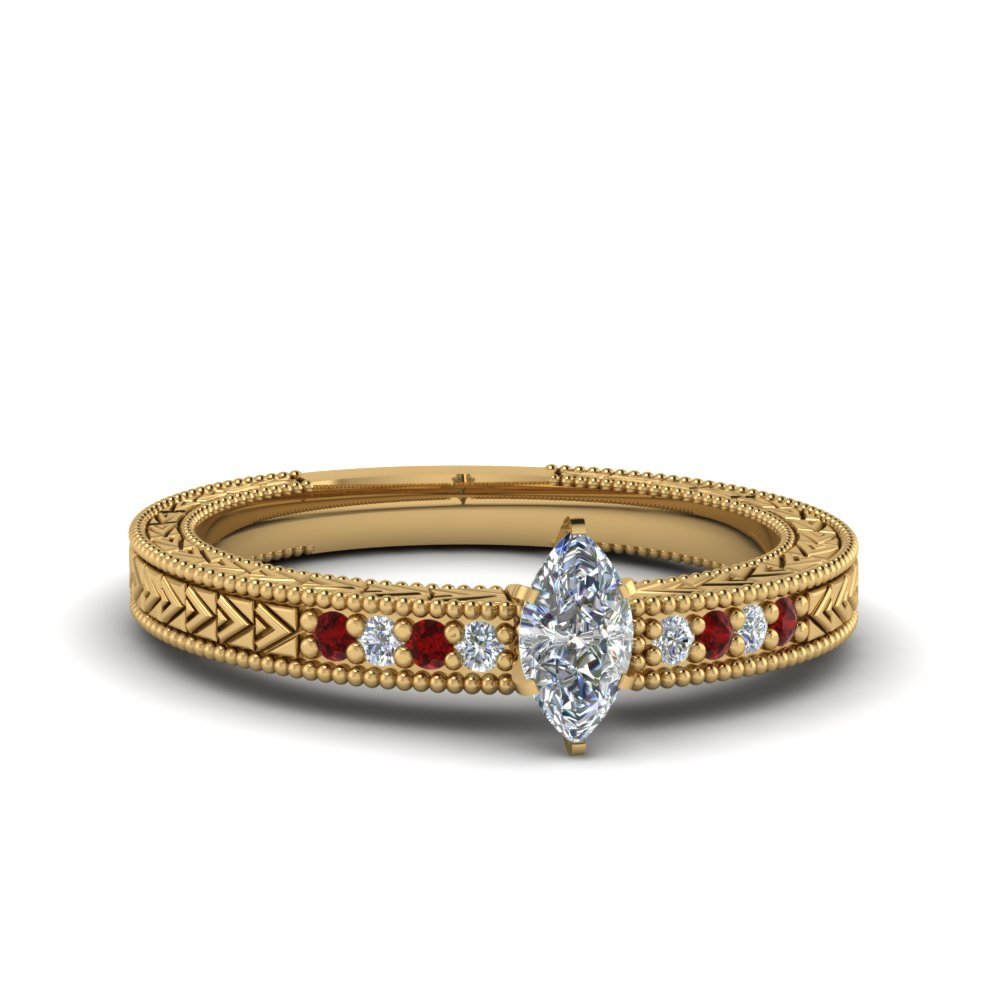 Antique Design Pave Diamond Ring