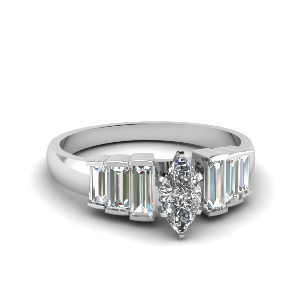 Marquise Diamond 7 Stone Ring