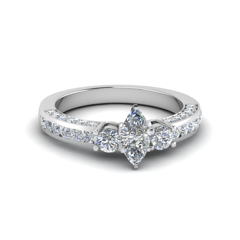 Channel Set 3 Diamond Ring