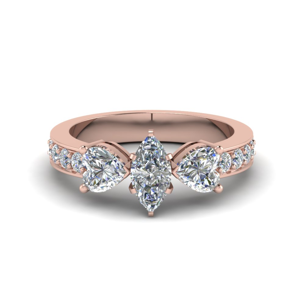 Marquise Cut Pave Engagement Ring