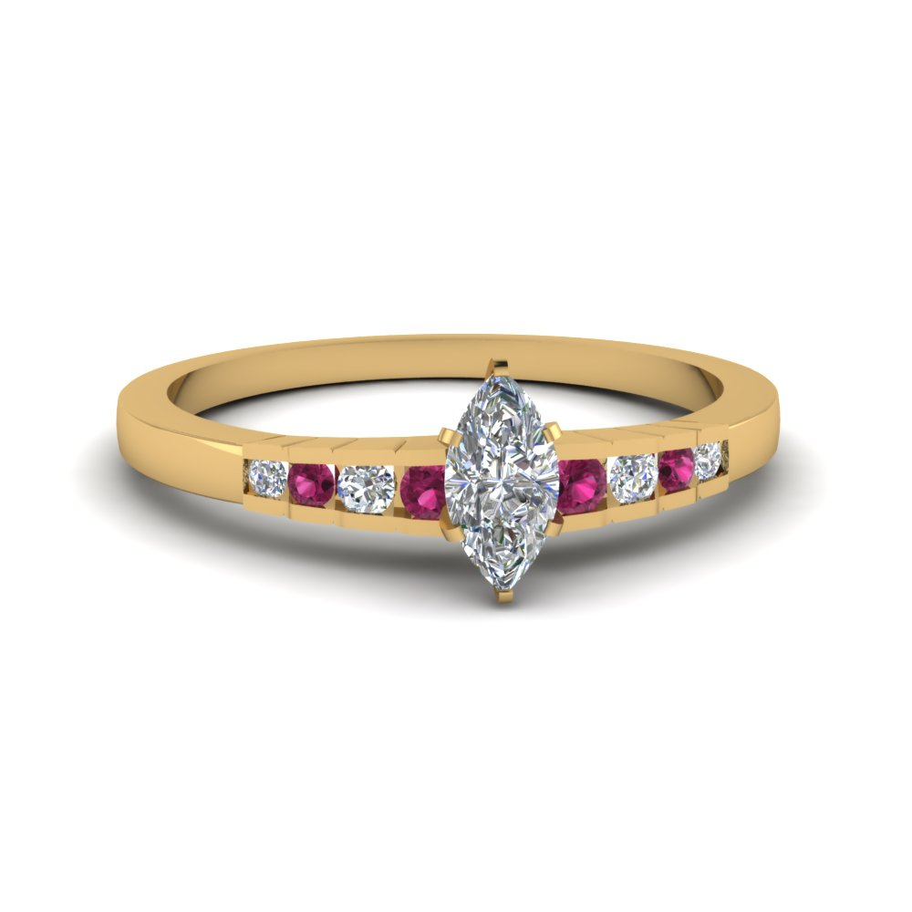 Yellow Gold Sapphire Engagement Ring