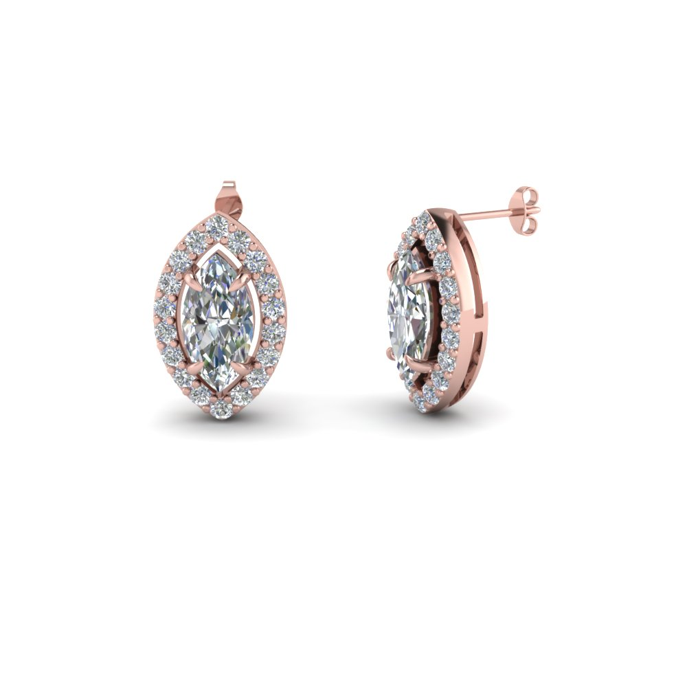 marquise cut diamond stud earrings in FDEAR1186MQ NL RG