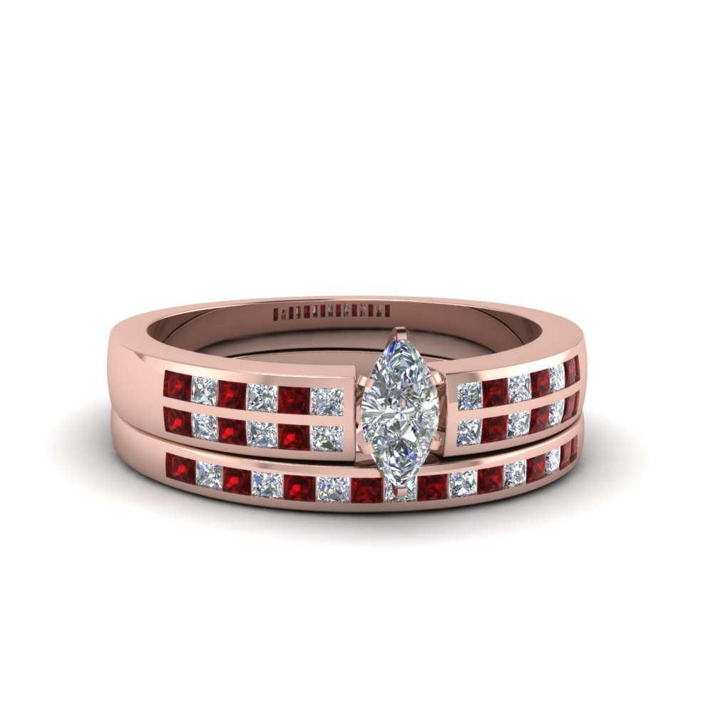 marquise cut double row channel diamond wide bridal set with ruby in FDENS3122MQGRUDR NL RG.jpg