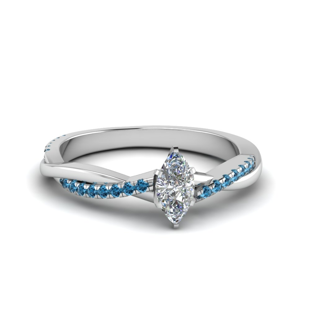 21e0892bd marquise cut infinity twist diamond engagement ring with blue topaz in  FD8253MQRGICBLTO NL WG
