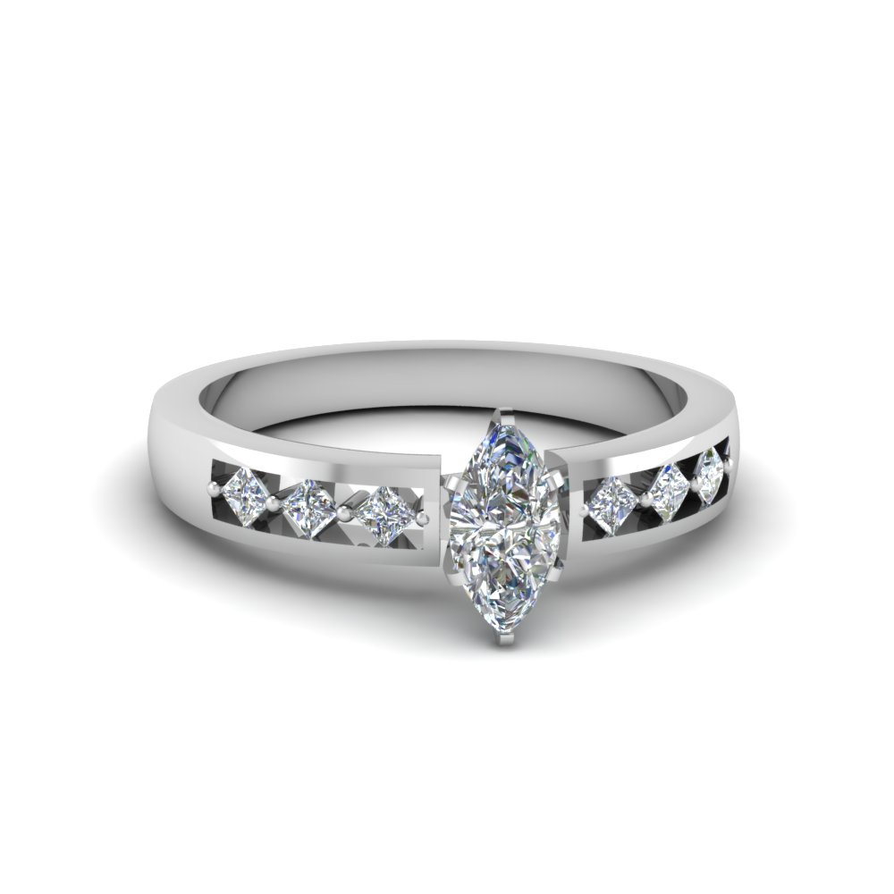 Half Carat Marquise cut Diamond Engagement Ring
