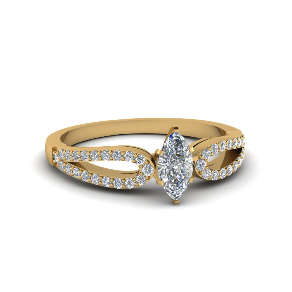 Marquise Shaped Gold Petite Rings