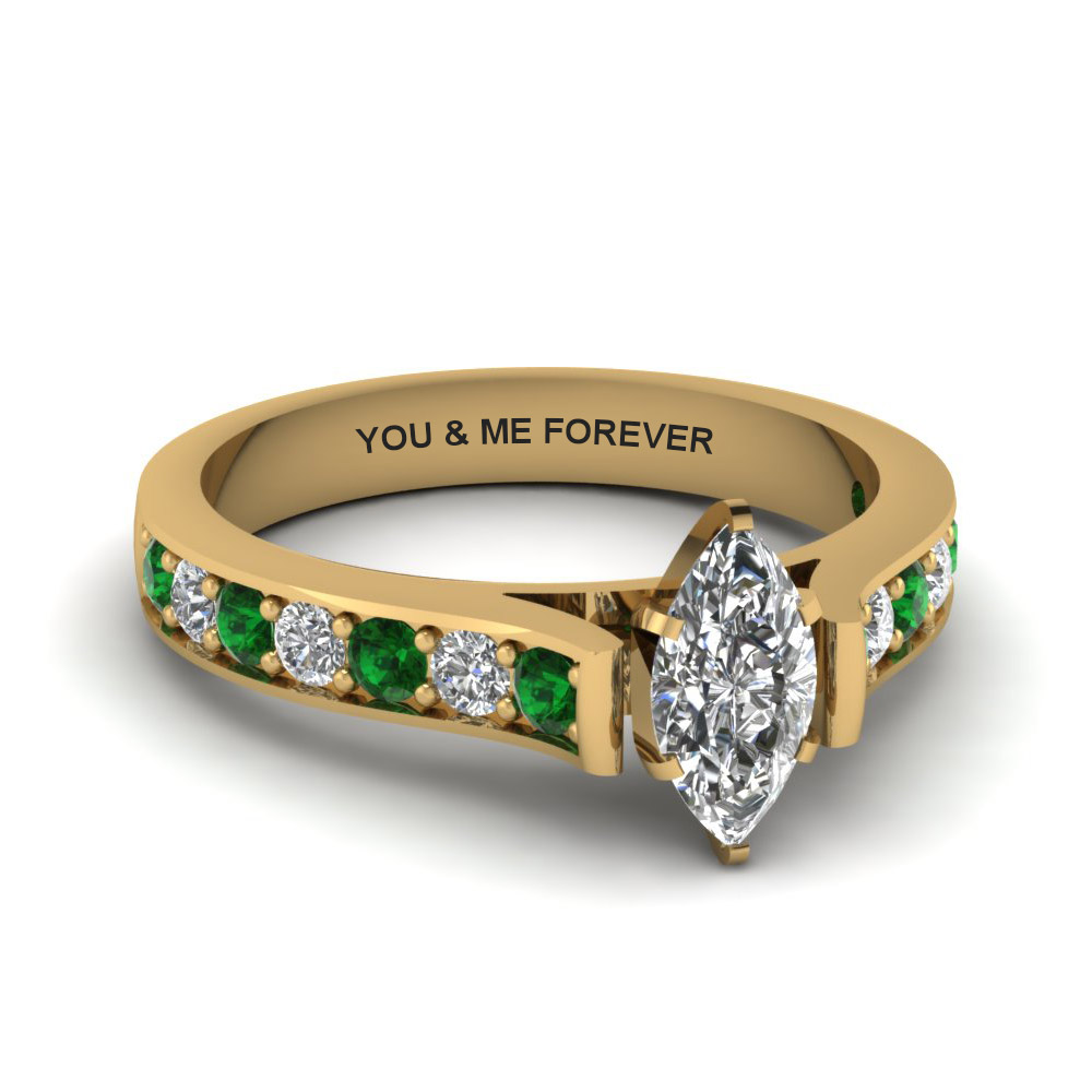 Delicate Emerald Ring In 18K Gold