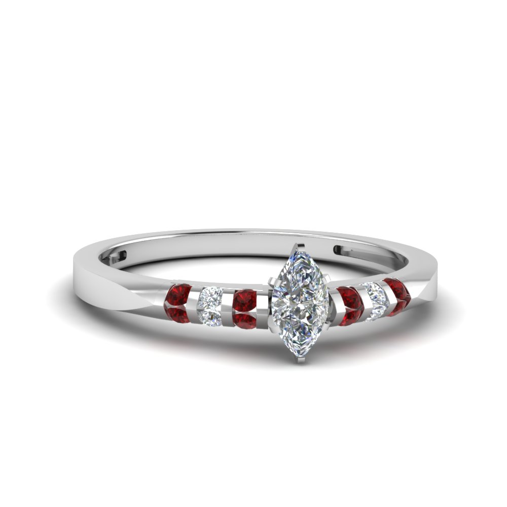 Ruby Channel Diamond Ring