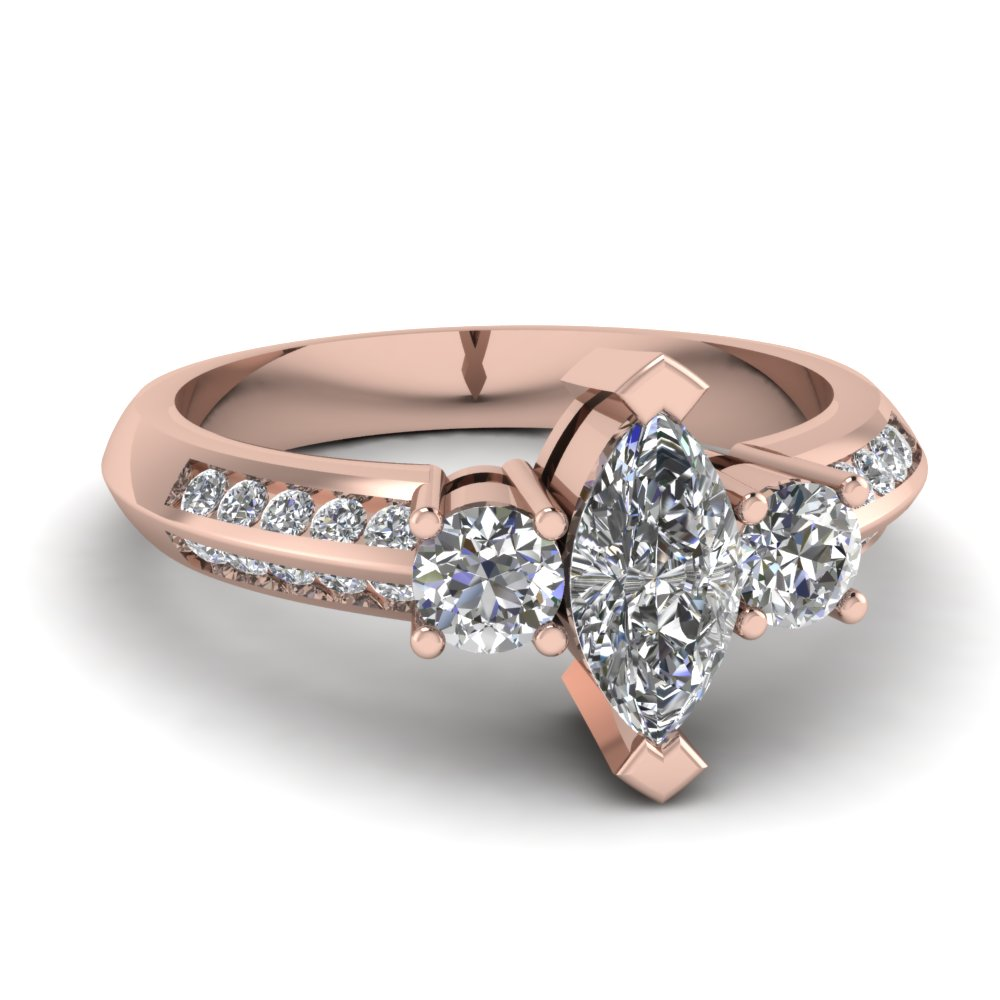 accent triple accented engagement unique side diamonds rings shop and ring with split shank diamond