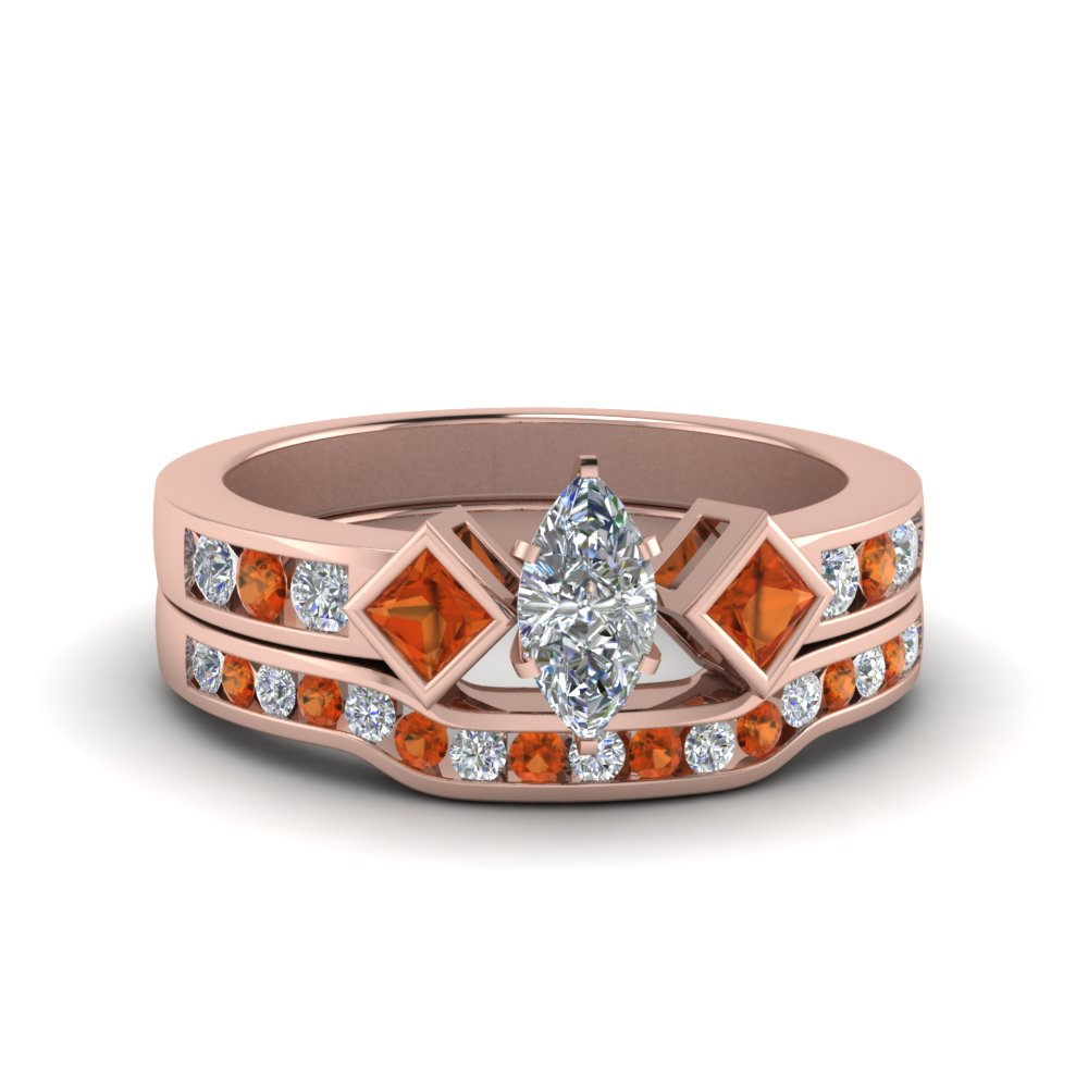 marquise-cut-three-stone-diamond-ring-and-channel-band-with-orange-sapphire-in-FDENS276MQGSAOR-NL-RG