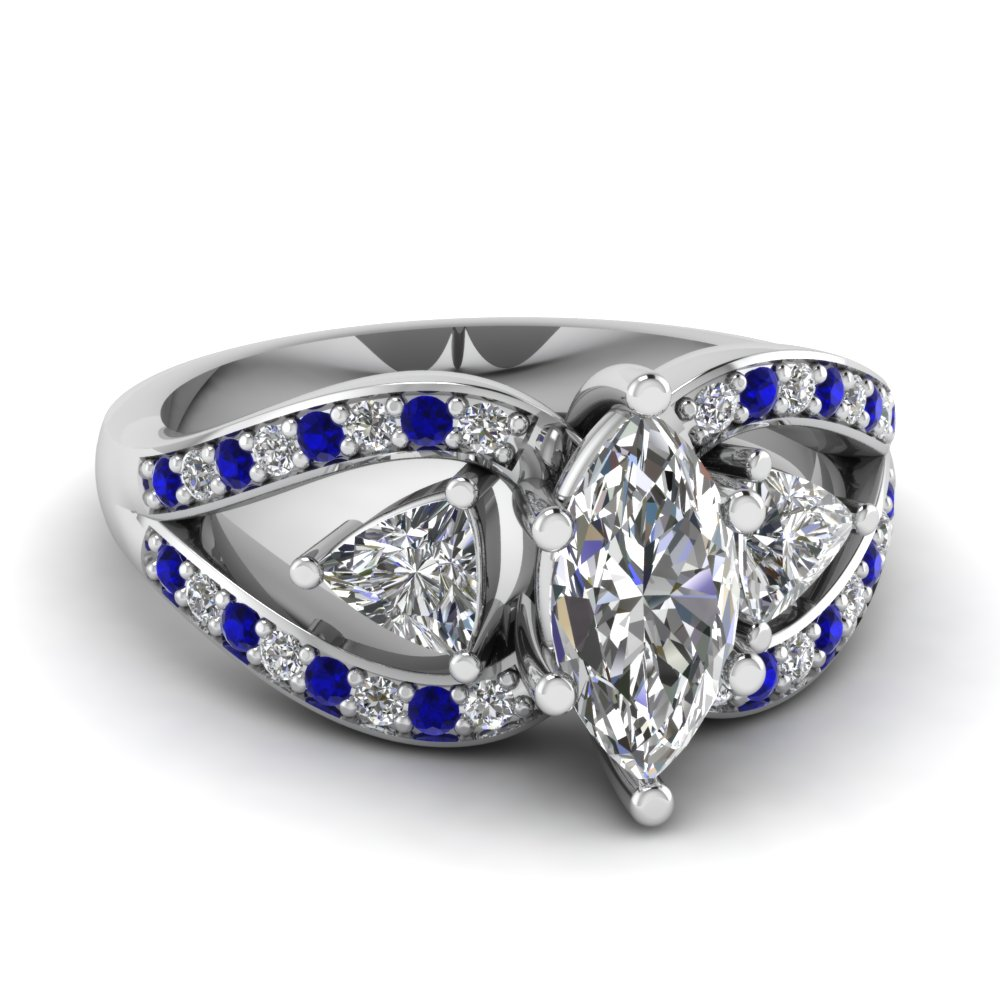 marquise-cut-trillion-antique-3-stone-engagement-ring-with-sapphire-in-FD71589MQRGSABL-NL-WG