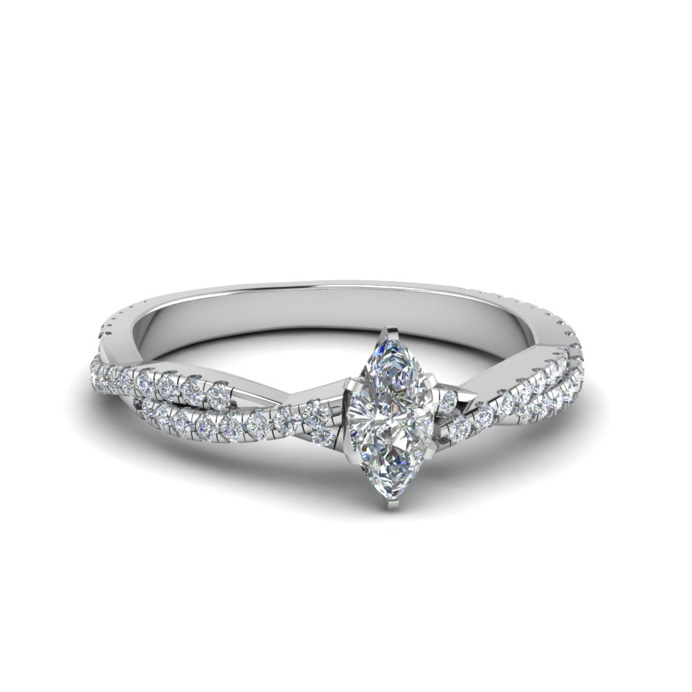 Twisted Vine Diamond Engagement Ring